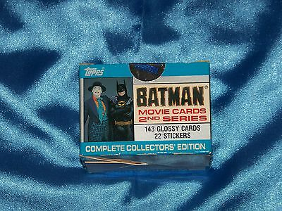 BATMAN: 1989 Movie Topps Trading Cards 2nd Series,143 Glossy Cards & 22 Stickers