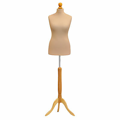 Female Tailors Dummy Bust Cream Dressmakers Fashion Students Mannequin Display