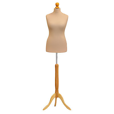 Tailors Dummy Bust Female UK 16/18 Dressmakers Student Sewing Mannequin Display