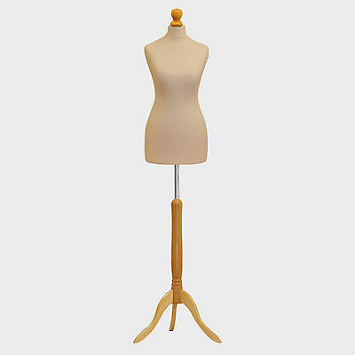 A1 Tailors Dummy Bust Female UK 6/8 Dressmakers Student Sewing Mannequin Display