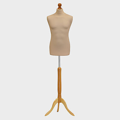 Male Tailors Dummy Cream Fashion Students Mannequin Window Display Tailor Bust