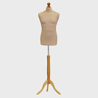Male Tailors Dummy Tailor Bust Cream Fashion Students Mannequin Window Display