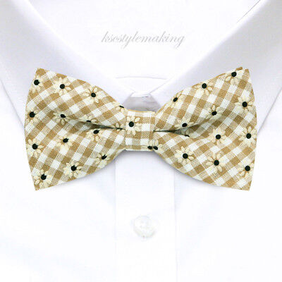 BRAND NEW MULTI-COLOR CHECKED RARE TUXEDO MEN/'S BOW TIE B638