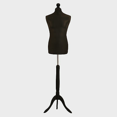 Male Tailors Dummy Black Fashion Students Mannequin Window Display Tailor Bust