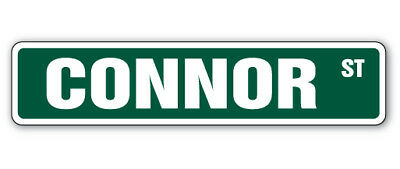 CONNOR Street Sign name childrens room door gift kid child boy girl wall entry