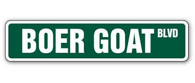 """BOER GOAT Street Sign goats farm farmer signs animal