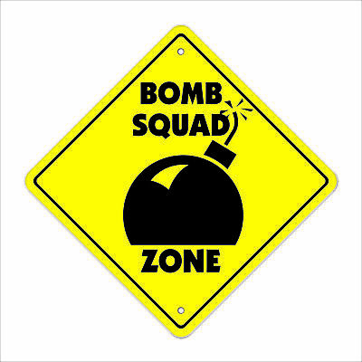 """Bomb Crossing Sign Zone Xing 12"""" new police team patch SWAT policeman cop terror"""
