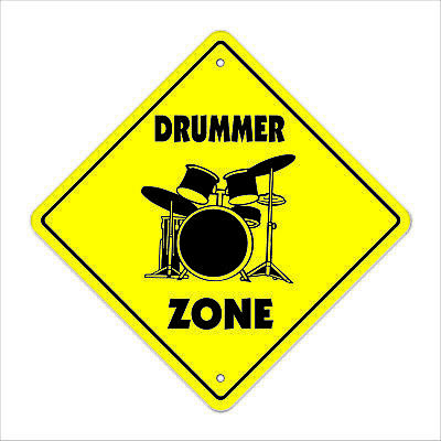 DRUMMER ZONE Sign drum sticks musician band gift rock play music lessons teacher