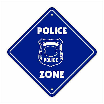 POLICE ZONE Sign signs law enforcement cop k9 gift detective captain officer law