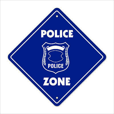 "Police Crossing Sign Zone Xing 12"" law enforcement cop k9 detective captain off"