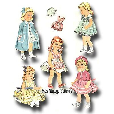 "Vtg 1950s Pattern Baby Doll Clothes ~ 16"" Terri Lee, Saucy Walker"