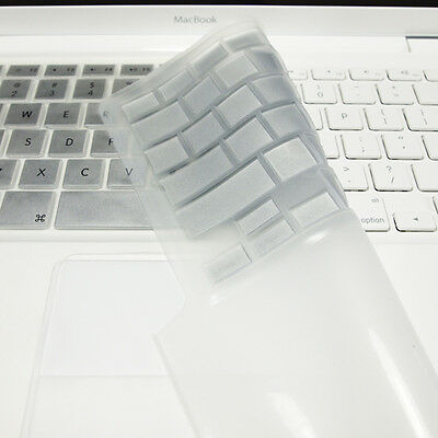 "FULL SILVER Silicone Keyboard Skin Cover  for Old Macbook White 13"" (A1181)"