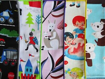 Handkerchief Kids Prints Planes Dolls Cakes Dogs Rodeo Retro Trains Dinosaurs