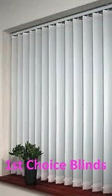 Quality Made To Measure Patterned Vertical Blinds White / Cream