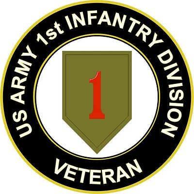 "Army 1st Infantry Division Veteran 5.5"" Sticker 'Officially Licensed'"