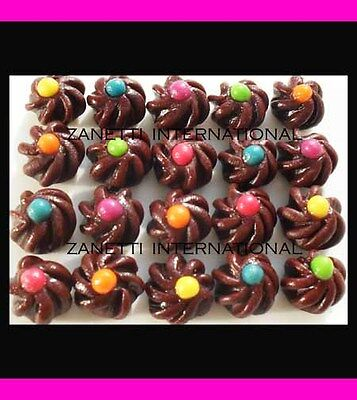 100 Miniature Assorted Choc Cookies / Cakes *Dollhouse Kids Party Food*Wholesale