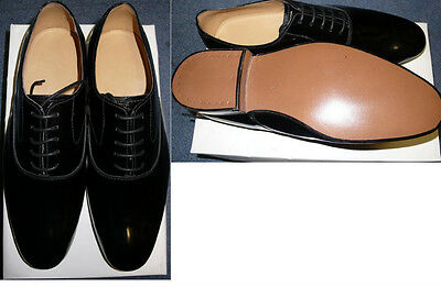 Black Patent Oxford Shoes For Raf Mess Dress Or Dinner Suit, Brand New In Box