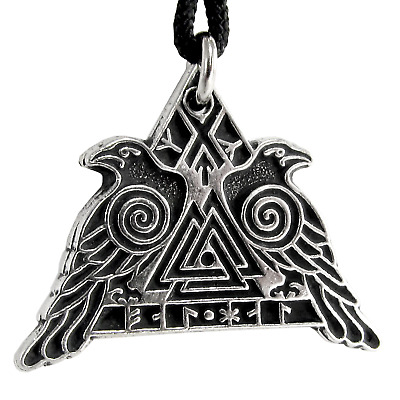 Valknut Warrior Valkyrie Raven Pendant jewelry Norse Military Protection viking