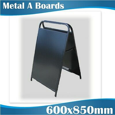 Black steel double sided A-Board/A-Frame 600x850mm