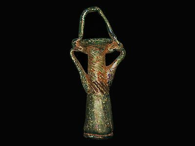 Aphrodite- Ancient Roman Tri-Handle Glass Balsamarium