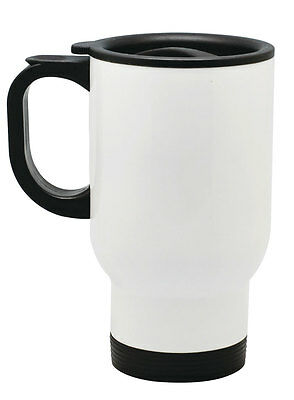 24pcs 14oz White Stainless Steel Sublimation Travel Mugs for Heat Transfer