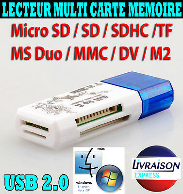 Lecteur Cle Usb Carte Memoire Sd Micro Sdhc Tf Mmc M2 32 Gb Go Pc Apn Windows