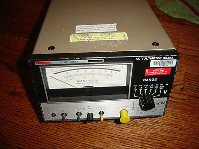 ballantine AC voltmeter 3046A used working condition true RMS volts milivolts
