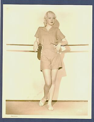 GORGEOUS BLONDE PIN-UP GIRL JUNE LANG ? - EXC CON 1930s - SEXY CHEESECAKE CHSK
