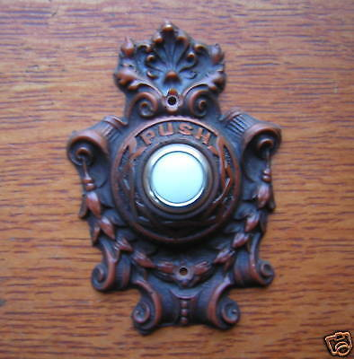 "New Victorian ""Wreath & Scroll"" Doorbell Button"
