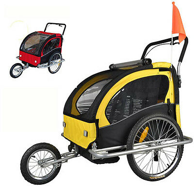 Brand New Children Bicycle Trailer & Jogger Jogging Stroller Combo 2 in 1