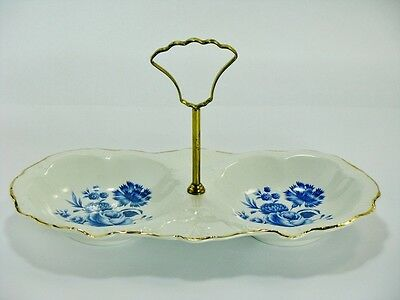 James Kent Old Foley Divided Relish Serving Dish w/ Handle
