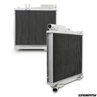 Twin Core Aluminium Alloy Race Radiator Rad For Audi A3 1.6 1.8 2.0 Fsi 8P 03-12