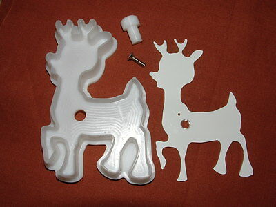 "Cute Reindeer Cookie With Pushout Attachment     ""dmws"""