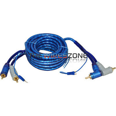3TR High Quality 3' Feet Triple Shielded Blue RCA Cable & Angle & Remote Wire