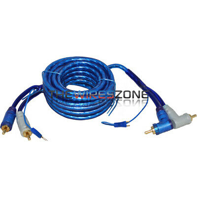 6TR High Quality 6' Feet Triple Shielded Blue RCA Cable & Angle & Remote Wire