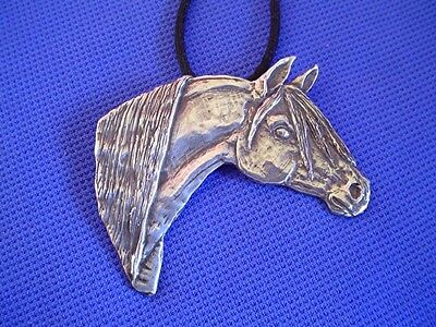 Original Sterling Silver Arabian Horse necklace by Cindy A. Conter saluki  arab