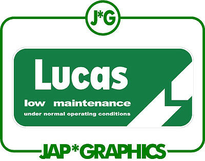 land rover classic lucas battery 4x4 sticker / decal free shipping