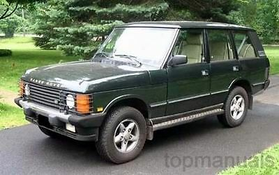 Manual Taller Range Rover Classic Workshop Service