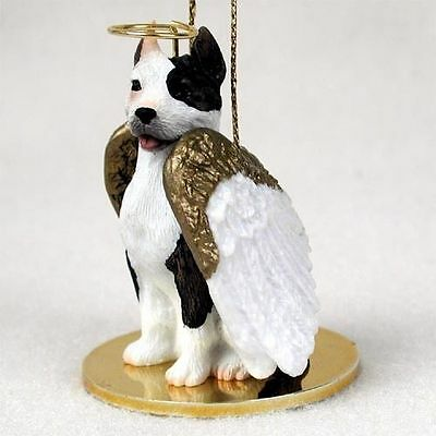 Pit Bull Terrier Dog Figurine Ornament Angel Statue Hand Painted Brindle