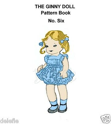 Ginny Doll Pattern 7-8 inch outfits Book No. 6 wardrobe