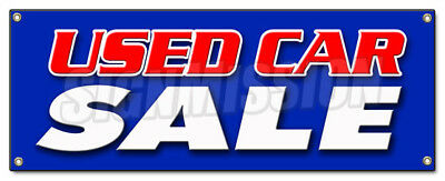 USED CAR SALE BANNER SIGN cars sell signs dealer dealership store buy here
