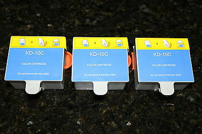 3PK Color Ink Cartridge #10C for  EasyShare 5250 6150 7250 Hero 6.1 7.1 9.1