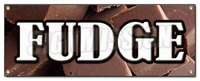 FUDGE BANNER SIGN chocolate concessions candy shop homemade store home made