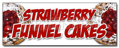 """24"""" STRAWBERRY FUNNEL CAKES DECAL sticker bakery cake cookies pastry bread"""