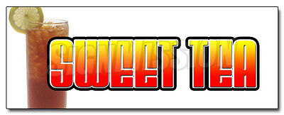 """24"""" SWEET TEA DECAL sticker ice iced drink cart stand southern style supplies"""