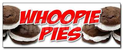 """24"""" WHOOPIE PIES DECAL sticker cake pie gob marketing promotional"""