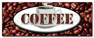 """24"""" COFFEE DECAL sticker shop cafe beans hot java retail storefront marketing"""