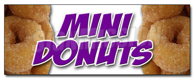 """24"""" MINI DONUTS DECAL sticker donut fried dough supplies stand trailer"""