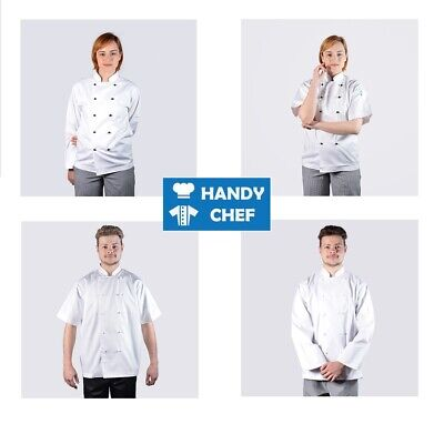 Chef Jacket White - Short or Long Sleeves - Premium Quality Chef Jackets