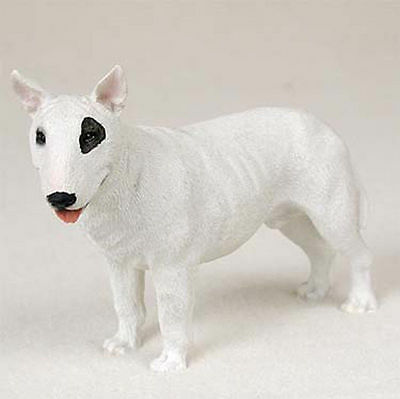 Bull Terrier Hand Painted Collectible Dog Figurine